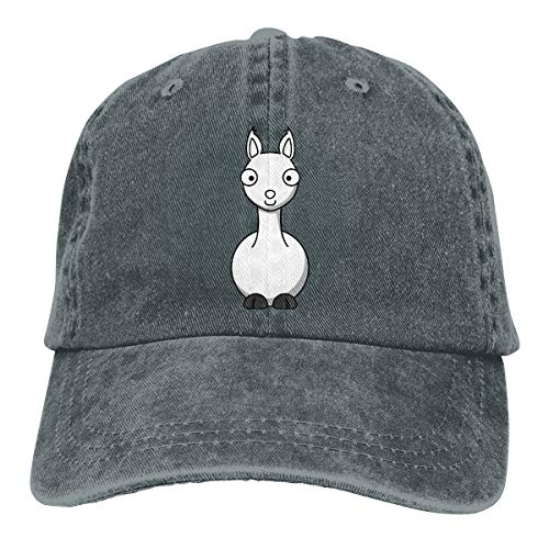 OHMYCOLOR Baseball Caps for Mens Womens Llama Alpaca Face Clipart Denim Casquette Personalised Trucker Hats Snapback (Face Clipart)