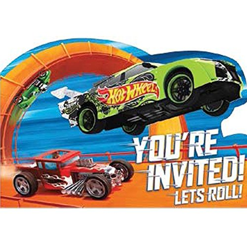 amscan Hot Wheels 'Wild Racer' Invitations w/ Envelopes (8ct)]()