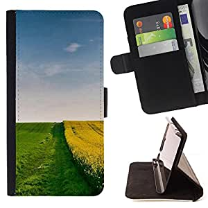 DEVIL CASE - FOR Samsung Galaxy Note 3 III - Nature Field Border - Style PU Leather Case Wallet Flip Stand Flap Closure Cover