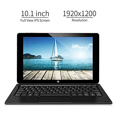 ALLDOCUBE iwork10 Pro 2-in-1 Tablet PC with Keyboard, 10.1 inch Laptop, 1920x1200 IPS Screen, Windows 10 + Android 5.1, Intel Atom Quad Core CPU, 4GB ...