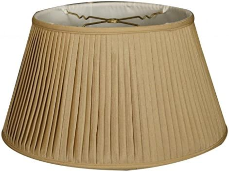 Royal Designs 19 6-Way Side Pleat Basic Lamp Shade, Antique Gold, 13 x 19 x 10.5