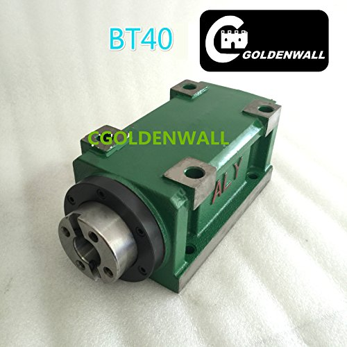 BT40 Taper Chuck 750W 0.75KW 1hp Power Head Power Unit Machine Tool Spindle 3000RPM for CNC Cutting/Boring/Milling machine (Angular contact bearing models For Milling)