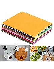 "40 Pcs Felt Fabric Sheets, 6""x6"" Textile Fabrics DIY Craftwork Felt Crafts Assorted Color Non-Woven Felt Sheets for Kids, DIY Sewing Crafts, Patchwork, School Project(40 Colors)"