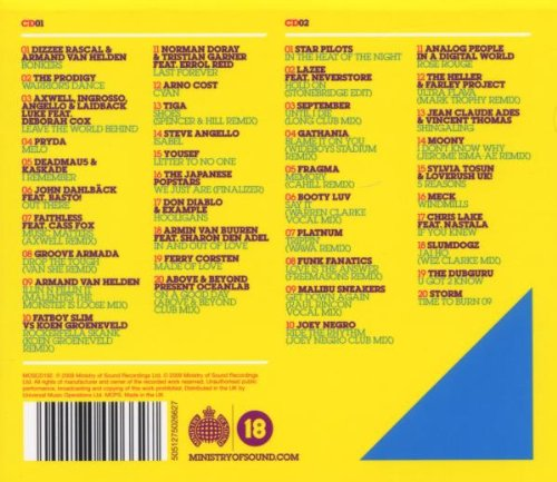 Ministry of sound clubbers guide to 2009 (digipak) 3cd.