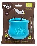 West Paw Design Zogoflex Toppl Interactive Treat Dispensing Dog Toy, Large, Aqua Blue offers