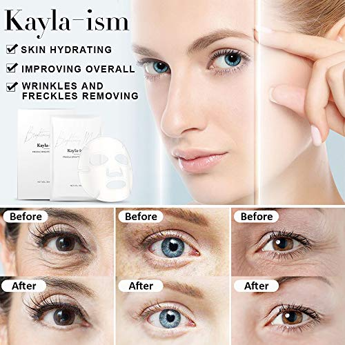 51r6MGkNYwL - Kayla-Ism Facial Mask | Repairing Skin in 28 days | Collagen Mask Sheet with Jasmine essence| Long last Moisturizing Face Mask | Anti Aging Brightening Face Sheet Mask | Natural Face Mask Pack