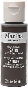 Martha Stewart Crafts Multi-Surface Satin Acrylic Vanilla Bean, 2 oz Paint, 2 Fl Oz