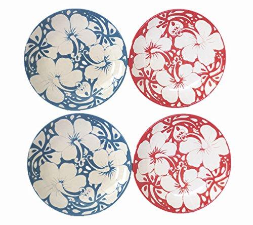 6.5 Set of 4 Blue Sky Ceramic Pallmeria Floral Plates