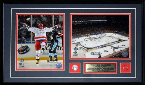 Midway Memorabilia Alexander Ovechkin Washington Capitals Winter Classic 2 Photo NHL Hockey Frame