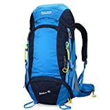 BOLANG Summit 45 Internal Frame Pack Hiking Daypack Outdoor Waterproof Travel Backpacks 8298 (Blue, 45l) For Sale