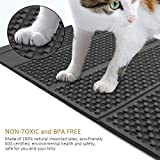 Cat Litter Mat, New Version Double-sided Cat Litter Trapper, Waterproof Foldable Mat Scatter Control for Litter Box, Large Size Rectangular 30'' X 19'', Phthalate Free, Easy to Clean, Soft on Kitty Paws