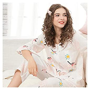 7b97f3714de HITSAN CEARPION Autumn Spring Maternity Nursing Pajamas Suit Elegant  Pregnant Women Sleepwear Casual Breast Feeding Clothes Style B Size XL   Amazon.in  ...