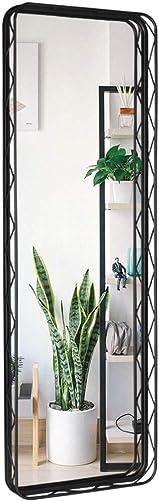 VVK Modern Metal Framed Mirror – Black Framed Full Length Mirror Decor, Floor Mirror, Dressing Mirror, Make Up Mirror for Bathroom, Living Rooms, Entryways 15.7 x 2.6 x 47.2