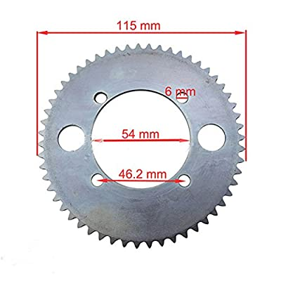 WhatApart 55 Tooth Rear Sprocket Compatible with Razor E300 Electric Scooter Compatible #25 25H Chain, PR200 Pocket Rocket : Sports & Outdoors
