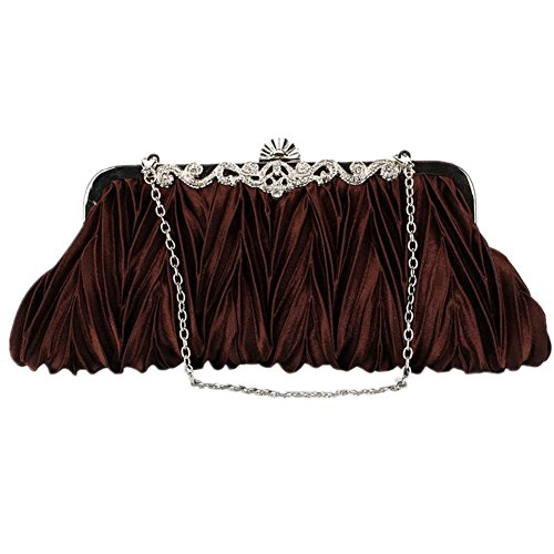 TOMATO-smile - Bolso mochila  de Satén para mujer negro negro café
