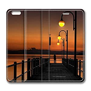iPhone 6 Plus Case, Fashion Protective PU Leather Flip Case [Stand Feature] Cover Pier Sunset 2 for New Apple iPhone 6(5.5 inch) Plus