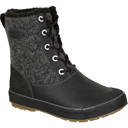 KEEN Women's Elsa WP-w Snow Boot, Black Wool, 8.5 M US by KEEN (Image #1)