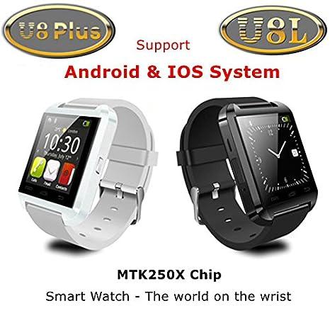 Amazon.com: Bazar Original U8 Plus reloj bluetooth u8l Smart ...