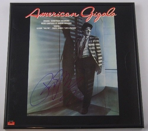 American Gigolo Richard Gere Hand Signed Autographed Original Motion Picture Soundtrack Lp Record Album with Vinyl Framed Loa