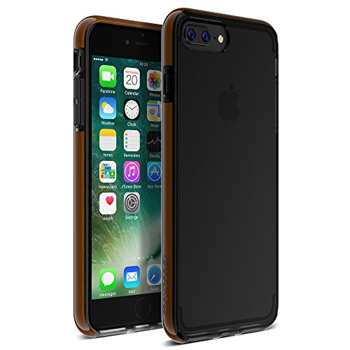iPhone 8 Plus Case, Maxboost HyperPro Thin case for iPhone 8/7 Plus Scratch Resistant [Hybrid Heavy Duty] w/GXD Gel Protection for Apple iPhone 8 Plus and 7 Plus - Midnight Black