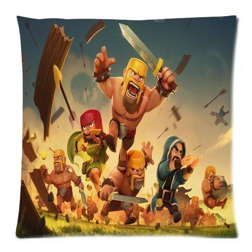 KLDECOR Clash of Clans Pattern DIY Pillowcase Cover Custom ...
