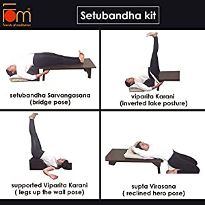 Friends of Meditation Restorative Yoga Kit (Setubandh Bench and Viprita Karani Box) : Prop for Yoga asana and Restorative Yoga (RY-2)
