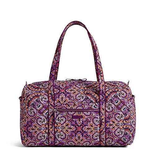 Vera Bradley Iconic Large Travel Duffel, Signature Cotton, dream tapestry