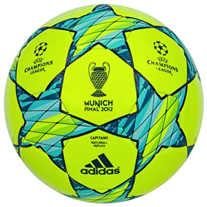 adidas - Balón de fútbol, tamaño 5 UK, Color Slime/Super Cyan ...