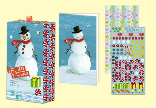 Snowman Holiday Sticker Note Cards (Holiday Trimmings)