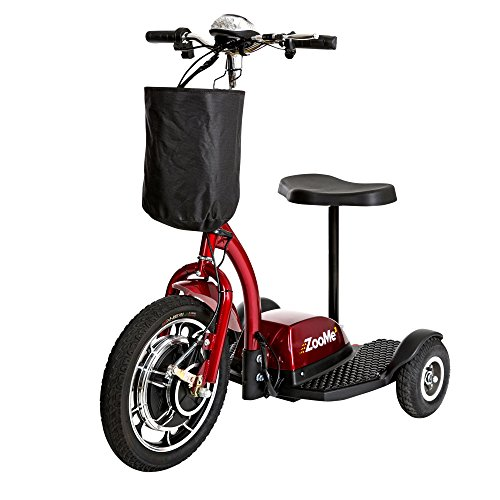 Drive Medical Zoome Three Wheel Recreational Power Scooter, Red ()