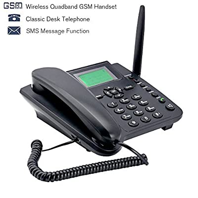 Sourcingbay M281 GSM Wireless Fixed Telephone, Home/Office Desk Phone,Rechargeable Battery
