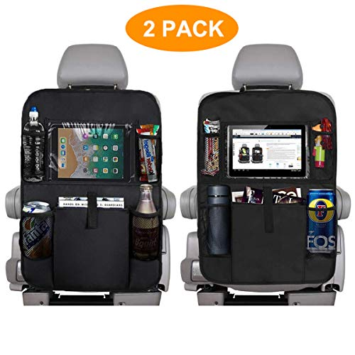 Buy Discount IONDA Car Backseat Organizer with 10 inch Clear Tablet Holder Waterproof Car Seat Back ...
