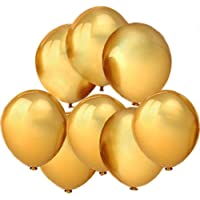 "GuassLee 100 ct Gold Balloon 10"" Latex Helium Balloons for Wedding Birthday Party Festival Christmas Decorations"
