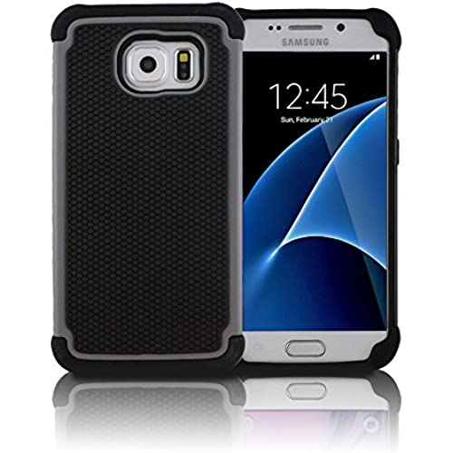 TCD for Samsung Galaxy S7 [GRAY] LIFETIME WARRANTY Executive Armor Defender Series [HIGH IMPACT] Multi Layer [Hard/Soft Combo] TPU and Hard Sales