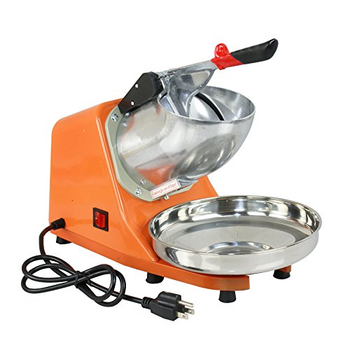 SuperDeal 300W Electric Ice Shaver Machine Shaved Ice Snow Cone Maker 143 lbs New (Orange) by SUPER DEAL (Image #1)