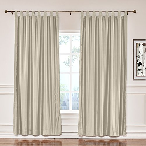 ChadMade Elegant Vintage Polyester Cotton Silk Thermal Insulated Curtain Beige 50