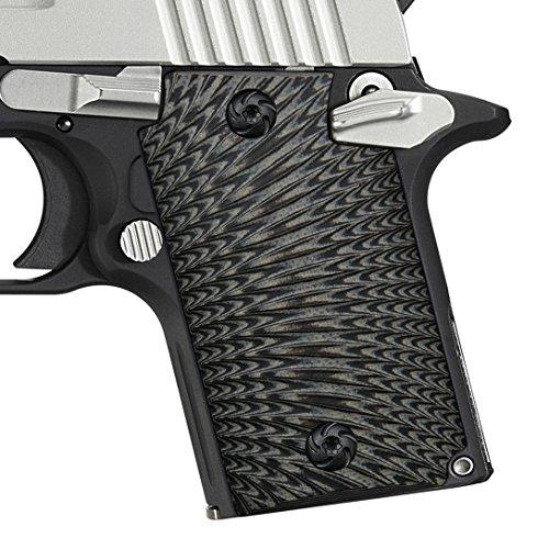 COOL HAND Sig Sauer P938 Grips,Sunburst Texture,G10,Grey/Black