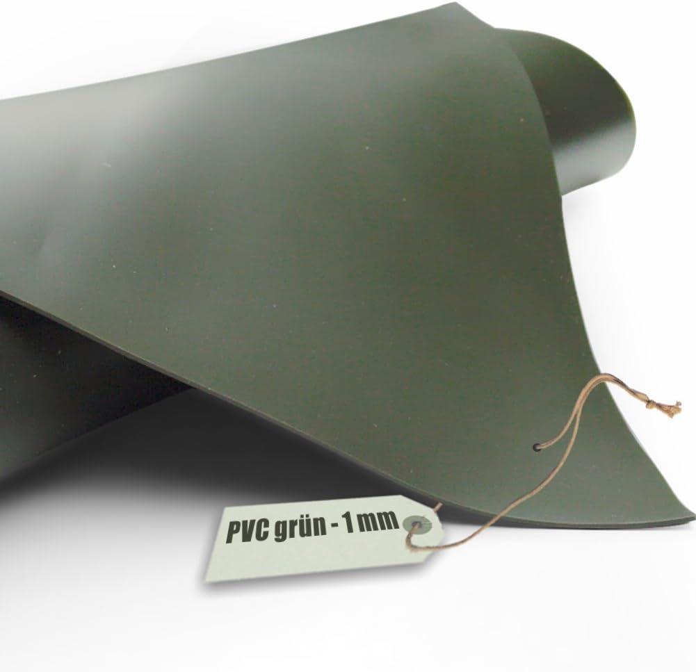 Teichfolie PVC 1mm oliv gr/ün in 4m x 4m