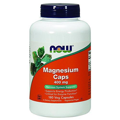 NOW Magnesium 400 mg,180 Capsules