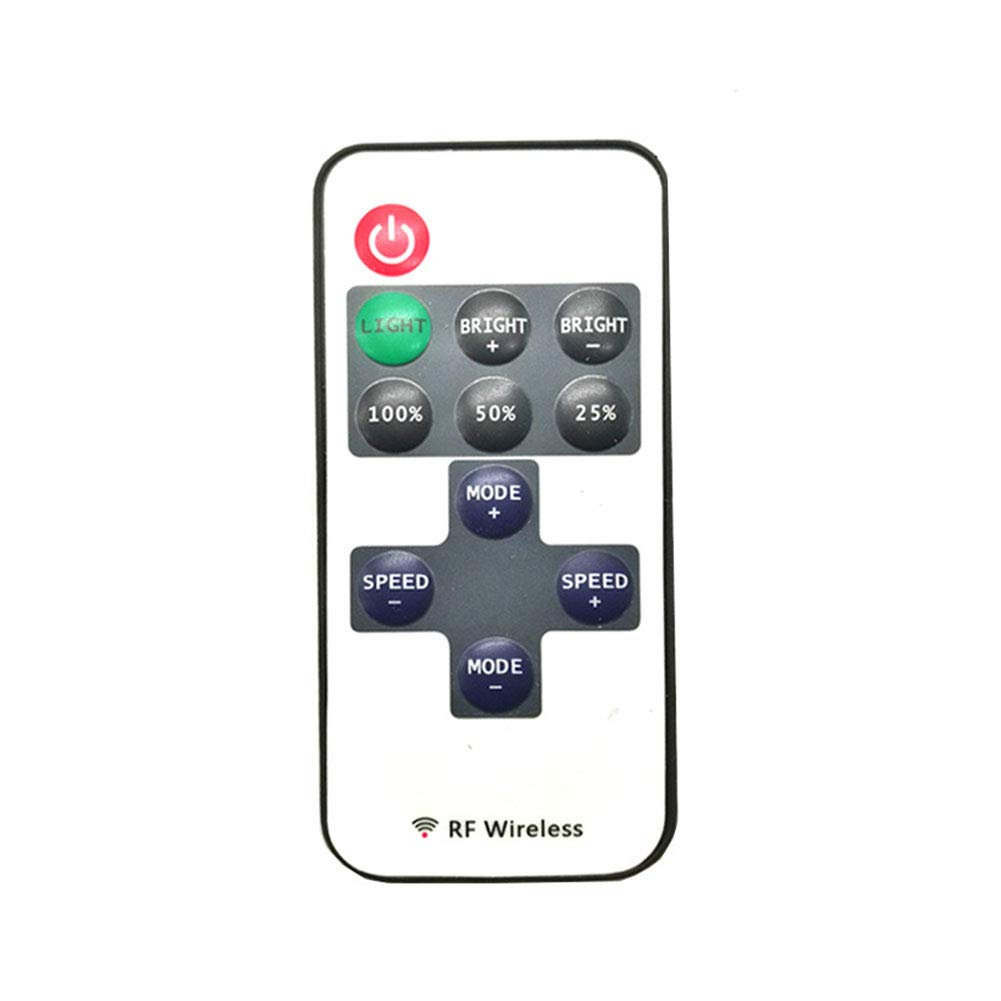TABEN 11-Key RF Mini Wireless Remote Controller with DC Connector for Single Color 3528 5050 LED Strip Lights