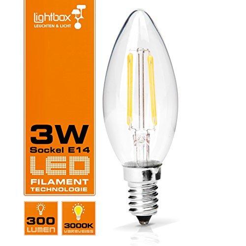 E14 LED 3 W Bombilla, 300 lumens (equivalente a 25 W de vela)