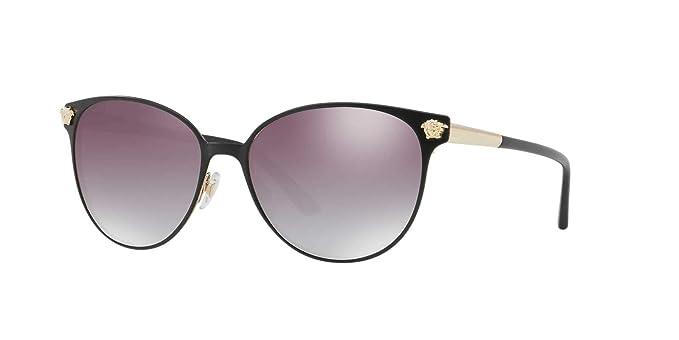 Versace 0VE2168, Gafas de sol para Mujer, Matte Black/Pale ...