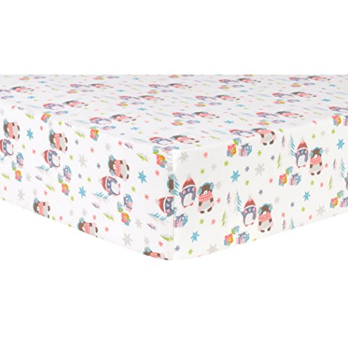 Trend Lab Winter Wishes Deluxe Flannel Fitted Crib Sheet ()