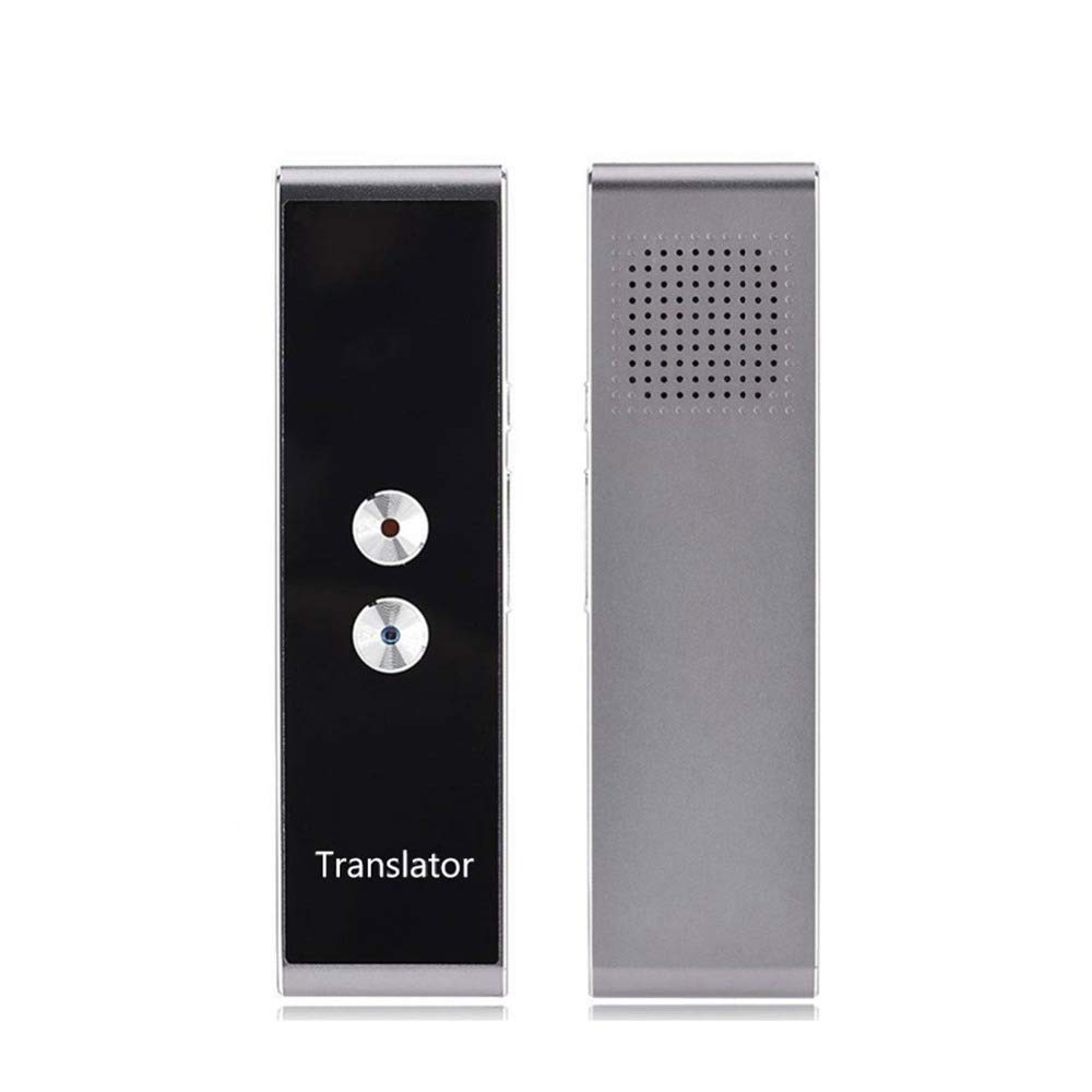 Supplieds YHM T8 Pocket Language Translator Voice 30 Languages Two Way Real Time Intercom Portable Translator for Personal Learning Travelling Black