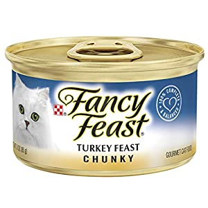 Purina Fancy Feast Pate Wet Cat Food; Chunky Turkey Feast - (24) 3 oz. Cans 112