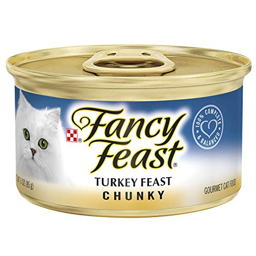 Purina Fancy Feast Pate Wet Cat Food; Chunky Turkey Feast - (24) 3 oz. Cans