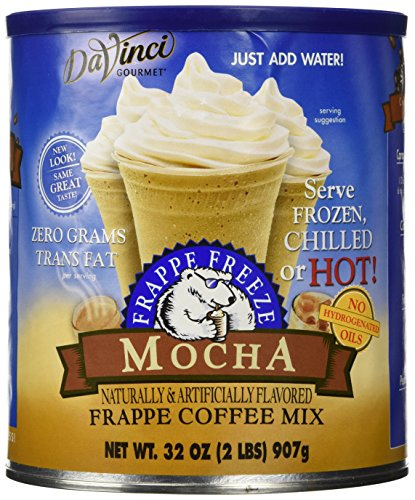 32oz Caffe D'Amore Frappe Freeze Mocha Frappe Coffee Mix