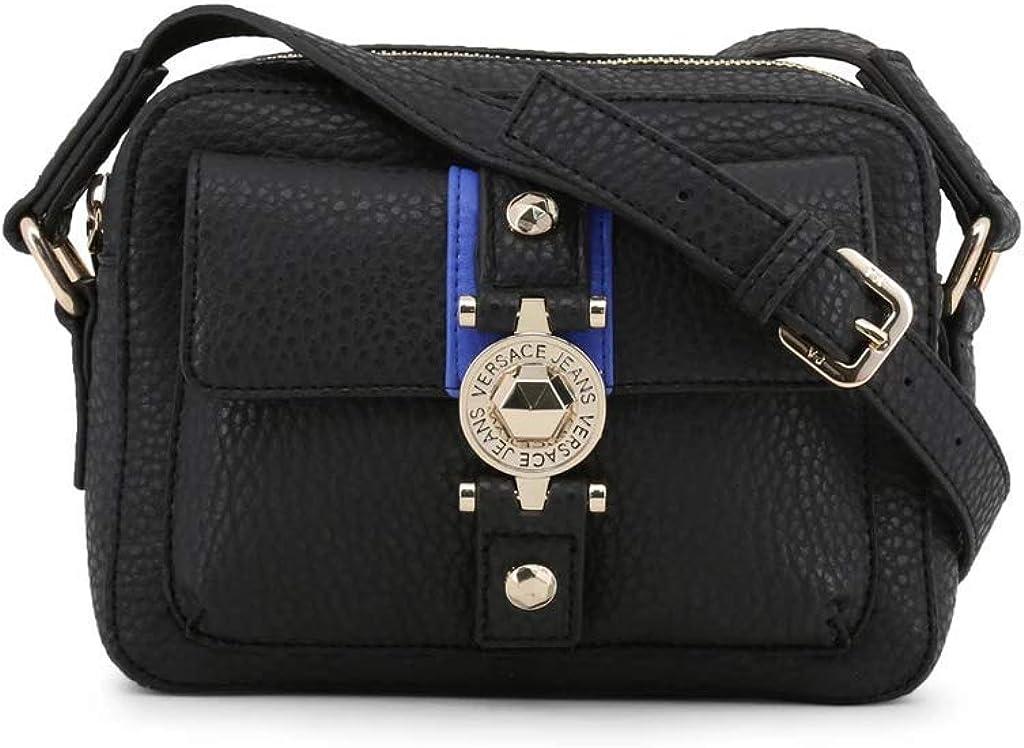 Versace EE1VSBBF1 EMAG 899+202 Black//Blue Medium Shoulder Bag for Womens