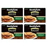 Smithfield Applewood Smoked Bacon, Fully Cooked, Ready-to-Eat, 12 slices, 4 pack