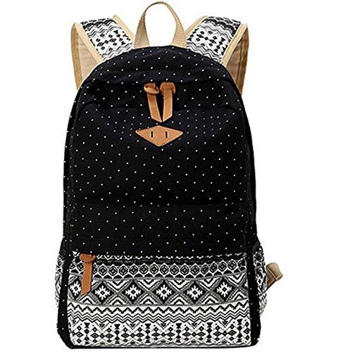 Minch Polka Dot School Backpack- peofessional Canvas 14
